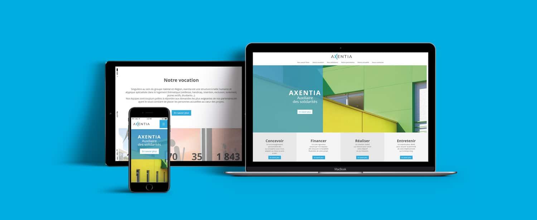 Le design du site Axentia est entièrement responsive