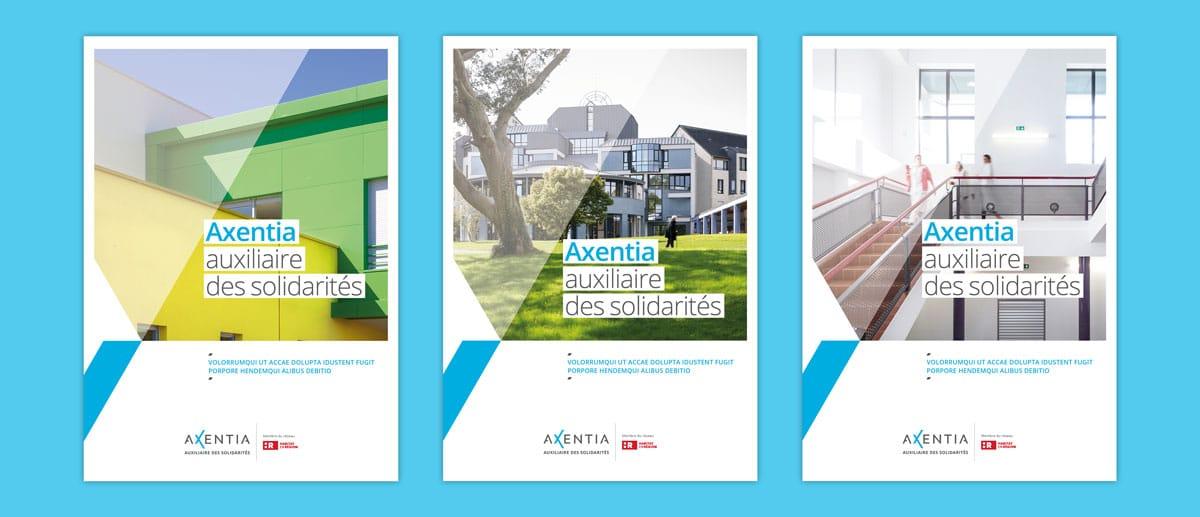 Le système de mise en page pour les couvertures des supports éditoriaux d'Axentia