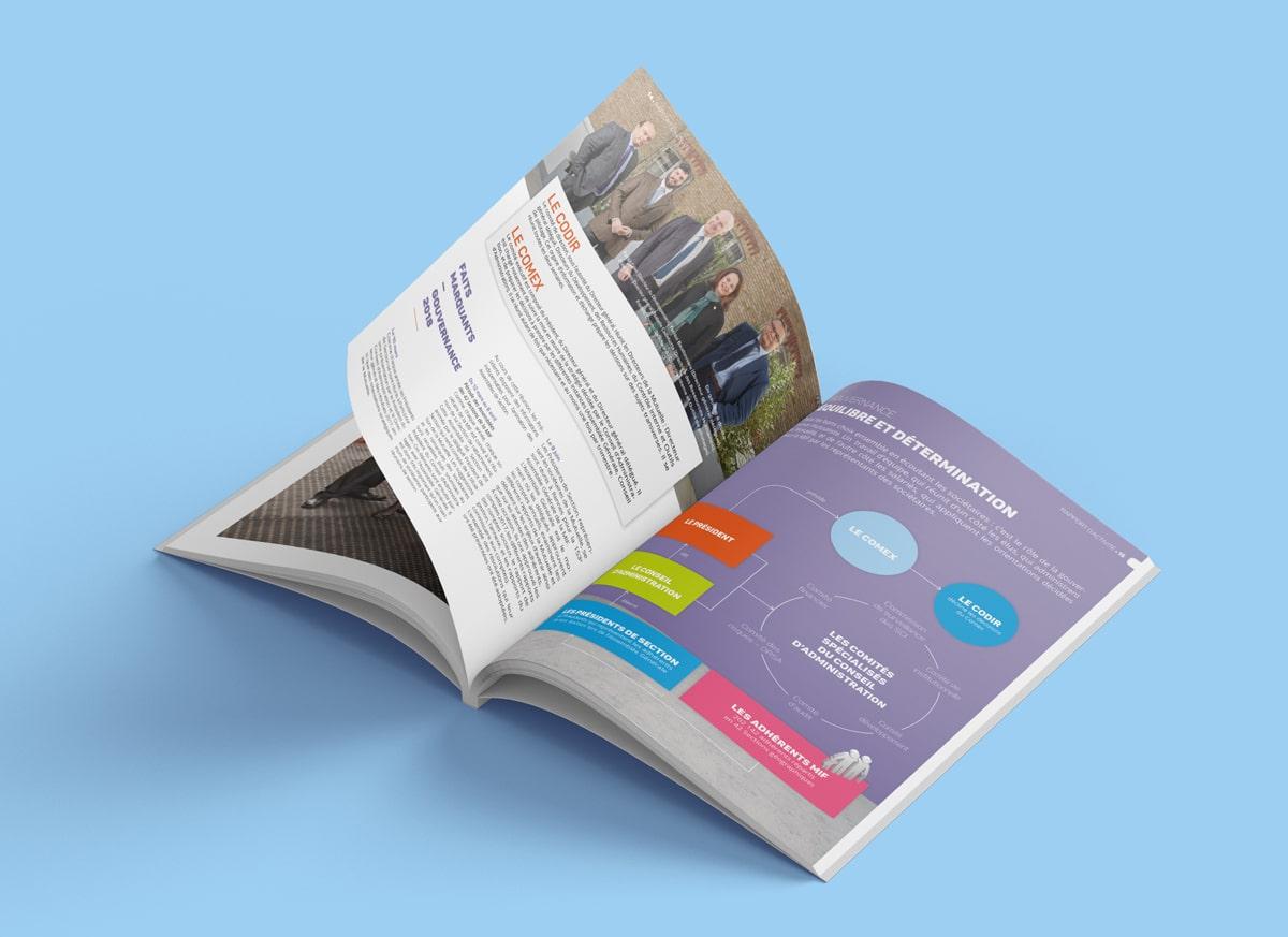 Des pages hautes en couleurs et des infographies claires et aérées